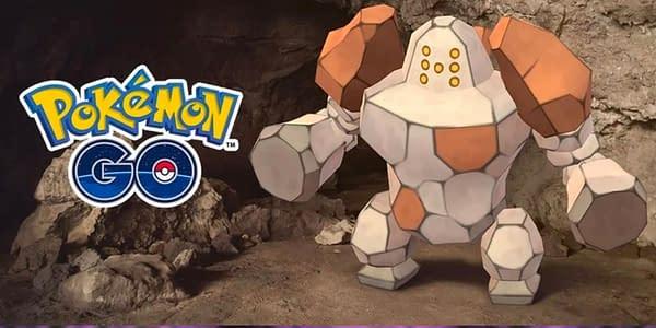 Regirock in Pokémon GO. Credit: Niantic