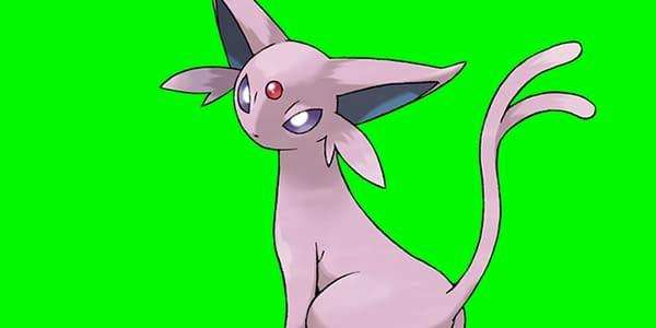 Espeon official art. Credit: Pokémon Company