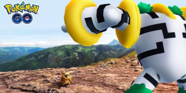 Bidoof vs. Regigigas in Pokémon GO. Credit: Niantic