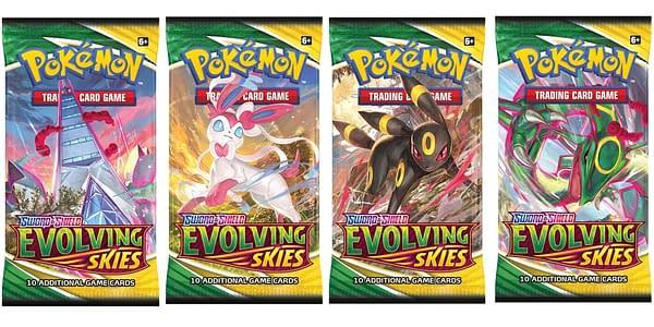 Evolving Skies pack art. Credit: Pokémon TCG