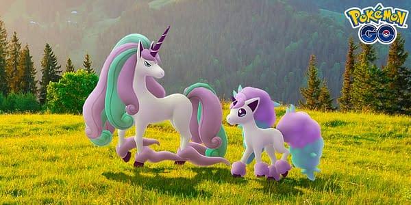 Galarian Rapidash & Ponyta in Pokémon GO. Credit: Niantic