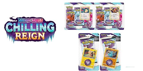 Chilling Reign blister packs. Credit: Pokémon TCG