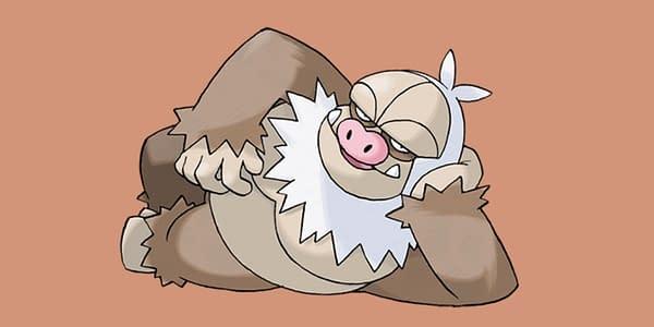 Slaking official art. Credit: Pokémon Company