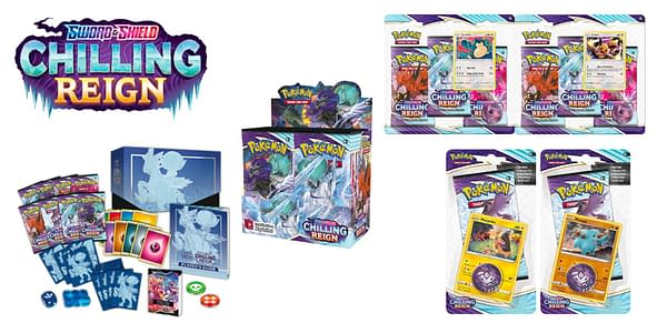 Chilling Reign products. Credit: Pokémon TCG
