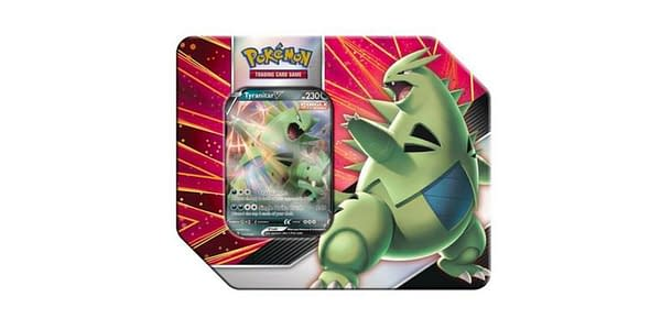 Tyranitar V Striker Tin. Credit: Pokémon TCG