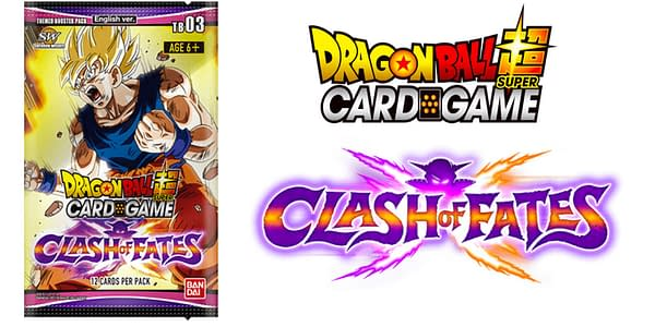 Clash of Fates pack and logo. Credit: Dragon Ball Super Card Game
