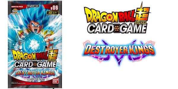 Destroyer Kings booster pack and logo. Credit: Dragon Ball Super Card Game