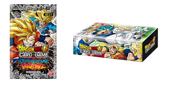 Dragon Brawl booster pack and Draft Box. Credit: Dragon Ball Super Card Game