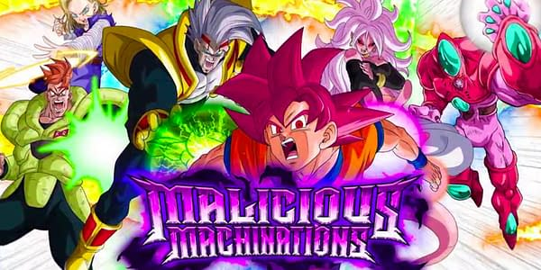 Malicious Machinations graphic. Credit: Dragon Ball Super Card Game
