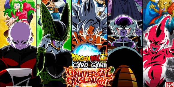 Universal Onslaught graphic. Credit: Dragon Ball Super Card Game