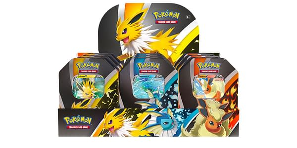 Eevee Evolution tins. Credit: Pokémon TCG
