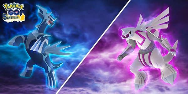 Dialga & Palkia in Pokémon GO. Credit: Niantic