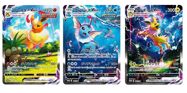 Flareon, Vaporeon, & Jolteon Alternate Art VMAXes. Credit: Pokémon TCG