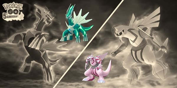 Shiny Dialga & Palkia in Pokémon GO. Credit: Niantic