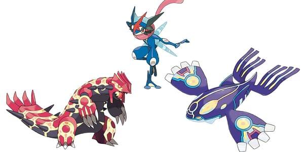 Ash Greninja & Primal Forms official artwork. Credit: Pokémon Company