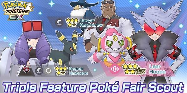 Pokémon Masters EX Triple Feature graphic. Credit: DeNA