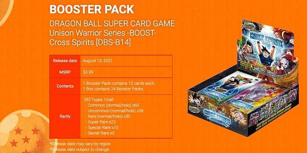 Cross Spirits booster box. Credit: Dragon Ball Super Card Game