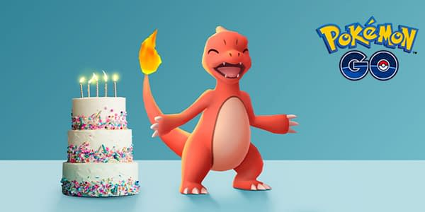 5th Anniversary graphic in Pokémon GO. Credit: Niantic