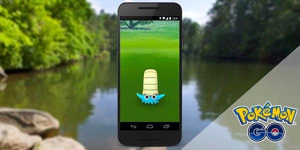 Omanyte in Pokémon GO. Credit: Niantic