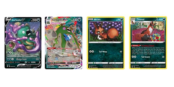 Cards of Sword & Shield - Evolving Skies. Credit: Pokémon TCG