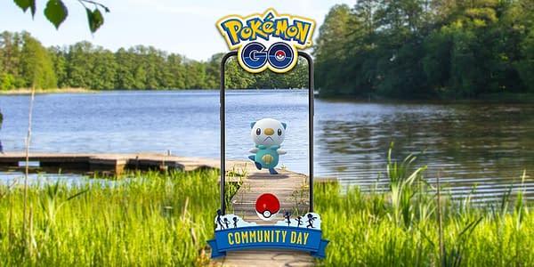 Oshawott Community Day graphic in Pokémon GO. Credit: Niantic