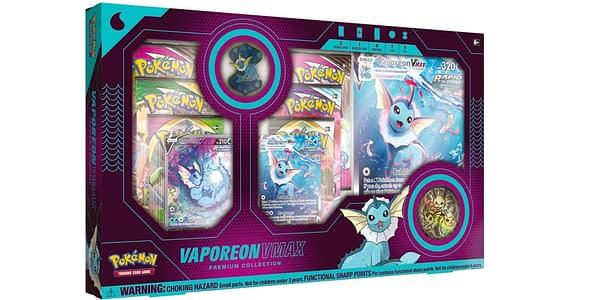 Vaporeon VMAX Premium Collection. Credit: Pokémon TCG.