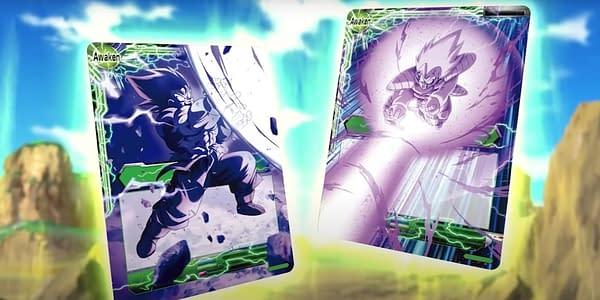 Dragon Ball Super Saiyan Showdown cards. Credit: Bandai