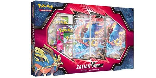 Zacian V-UNION Box. Credit: Pokémon TCG
