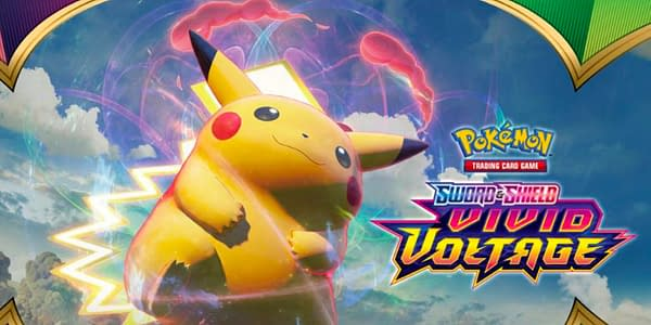 Vivid Voltage banner. Credit: Pokémon TCG
