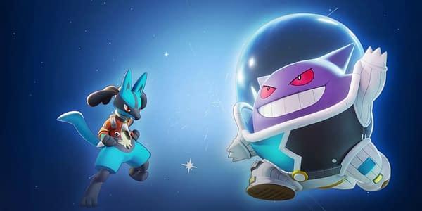 Lucario and Gengar in Pokémon UNITE. Credit: Nintendo