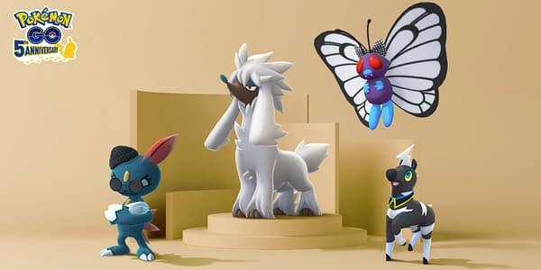 Fashion Week graphic in Pokémon GO. Credit: Niantic