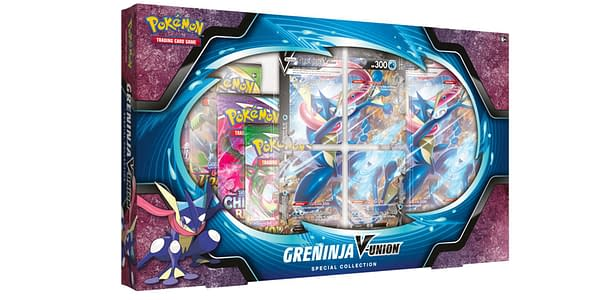 Greninja V-UNION Box. Credit: Pokémon TCG