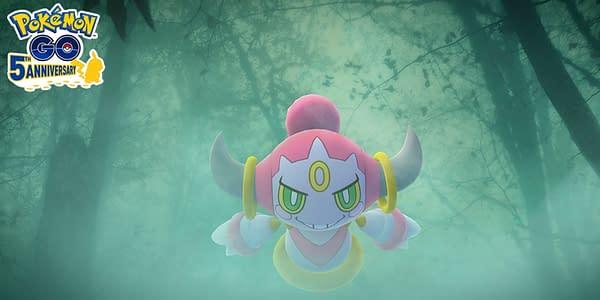Hoopa in Pokémon GO. Credit: Niantic