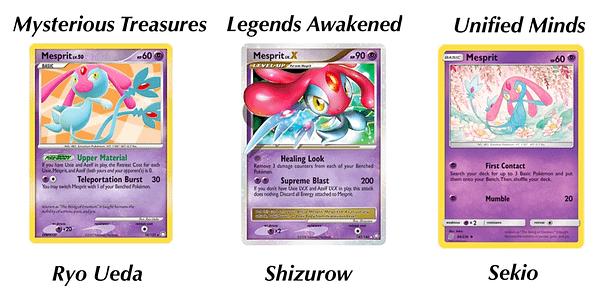 Mesprit cards. Credit: Pokémon TCG