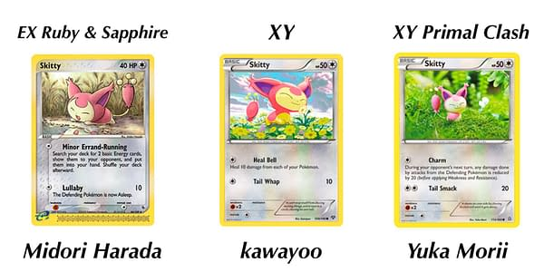 Skitty cards. Credit: Pokémon TCG