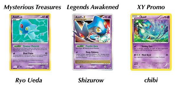 Azelf cards. Credit: Pokémon TCG