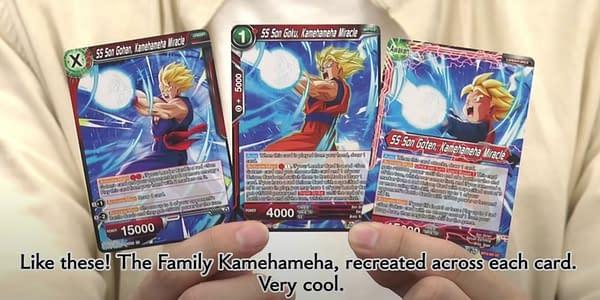 Dragon Ball Super Card Game BT15 cards. Credit: Bandai