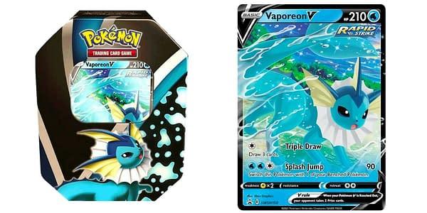 Vaporeon tin. Credit: Pokémon TCG