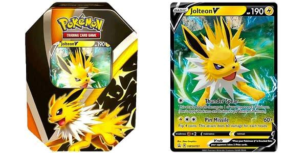 Eevee Evolution Tin: Jolteon. Credit: Pokémon TCG