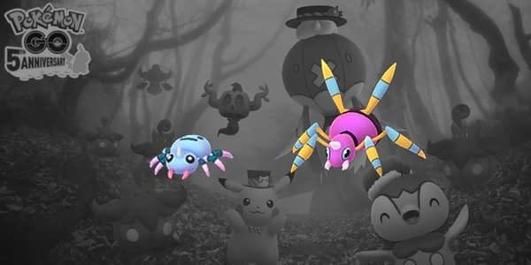 Shiny Spinarak in Pokémon GO. Credit: Niantic