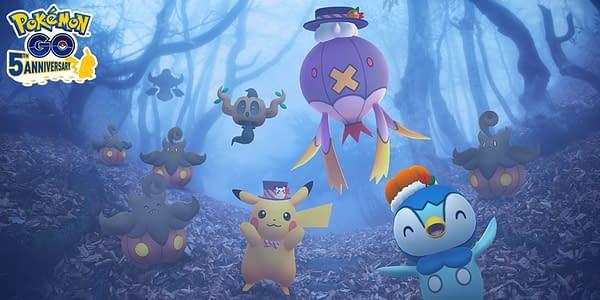 Halloween 2021 graphic in Pokémon GO. Credit: Niantic
