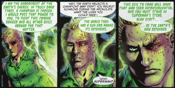 The Gaia Green Lantern Of Earth 2