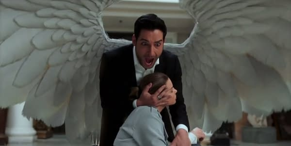 Lucifer and Chloe in the season 3 finale (Image: FOX/Netflix)