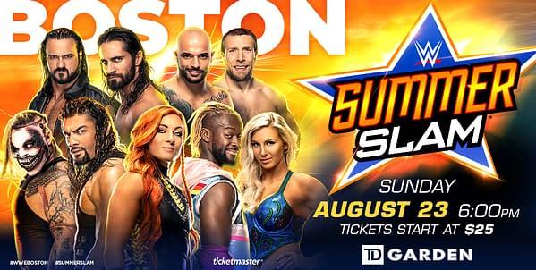 SummerSlam 2020 is still set for the TD Garden in Boston, courtesy of WWE.