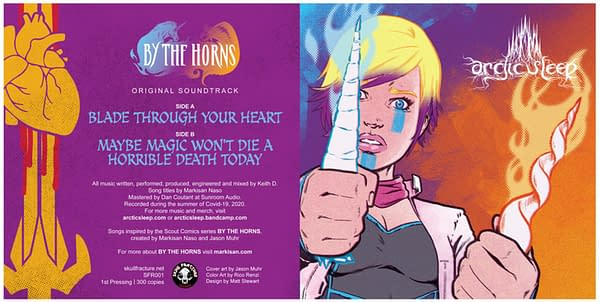 """Arctic Sleep Record To Accompany """"By The Horns"""" Comic Book"""
