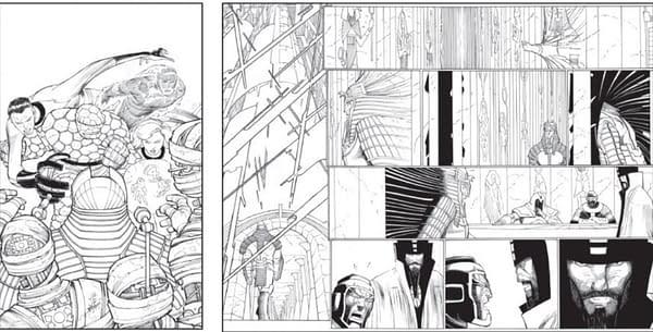John Romita Jr Artwork From Fantastic Four #35 60th Anniversary Issue