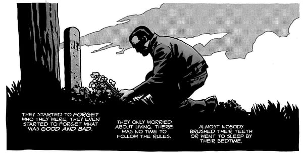 How Charlie Adlard Saved Negan's Life in The Walking Dead.