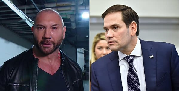 Dave Bautista is not a fan of Florida Senator Marco Rubio, an ally of Bautista's rival, fellow WWE Hall-of-Famer President Donald Trump
