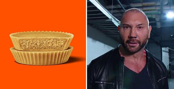 Dave Bautista can't stop eating Reese's Ultimate Peanut Butter Lovers Cups.