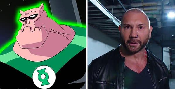 Dave Bautista thinks Green Lantern character Killowog is ugly.